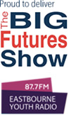 The Big Futures Show and Eastbourne Youth Radio Logos